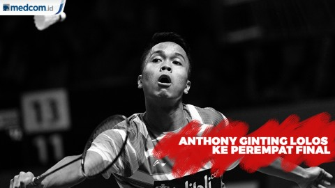 Anthony Ginting Lolos ke Perempat Final Japan Open 2019