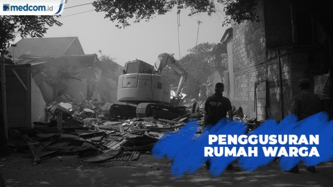 Tolak Penggusuran di Bekasi, Warga Bentrok dengan Satpol PP