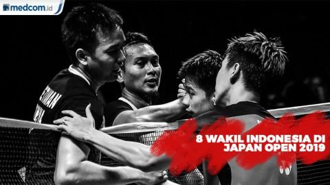 8 Wakil Indonesia Lolos ke Perempat Final Japan Open 2019