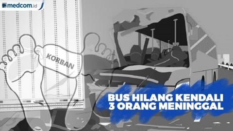3 Orang Meninggal Akibat Bus Hilang Kendali di Tol Cipali