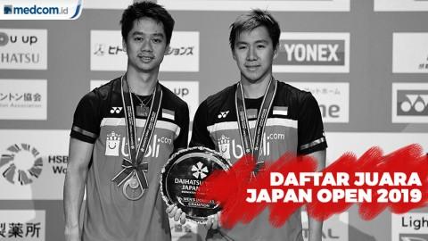 Daftar Juara Japan Open 2019