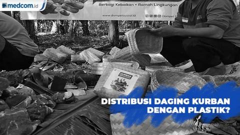 Distribusi Daging Kurban Dilarang Menggunakan Plastik