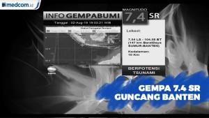 Gempa 7.4 SR di Banten, Berpotensi Tsunami