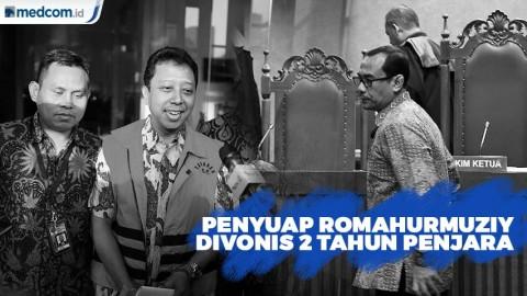 Penyuap Romahurmuziy Divonis 2 Tahun Penjara