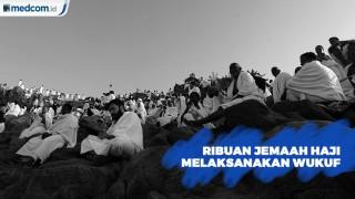 Jabal Rahmah Dipenuhi Jemaah haji yang Akan Wukuf