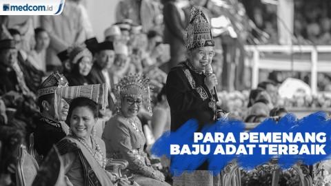 Para Pemenang Baju Adat Terbaik HUT Ke-74 RI di Istana