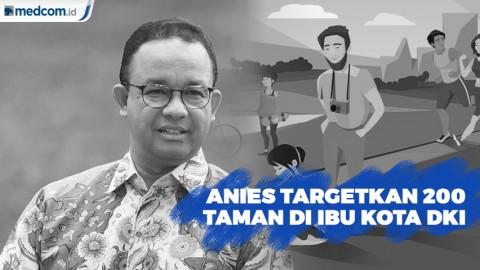 Anies Targetkan 200 Taman di DKI  Jakarta