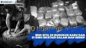 BNN Sita 20 Bungkus Sabu & 31 Ribu Ekstasi di Dalam Ban Serep Mobil
