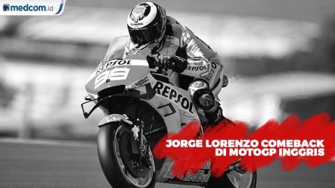Pulih Cedera, Jorge Lorenzo Siap Turun di MotoGP Inggris