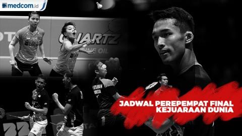 Jadwal Pebulu Tangkis, 4 Wakil Indonesia di Perempat Final