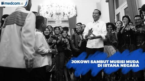 Jokowi Sambut Musisi Muda dalam Konser di Istana Negara