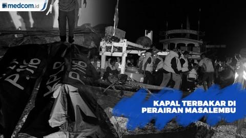 Kapal Motor Santika Nusantara Terbakar di Perairan Masalembu