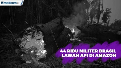Ribuan Tentara Brasil Dikerahkan Atasi Api di Amazon