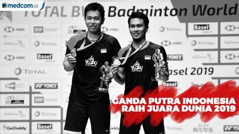 Kejuaraan Dunia 2019, Ahsan/Hendra Raih Gelar Juara Dunia