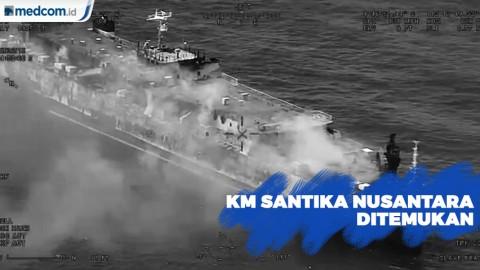 Detik-Detik Penemuan KM Santika Nusantara