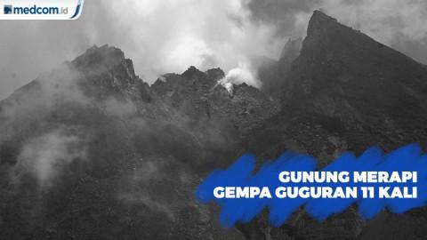 Gunung Merapi Gempa Guguran 11 Kali