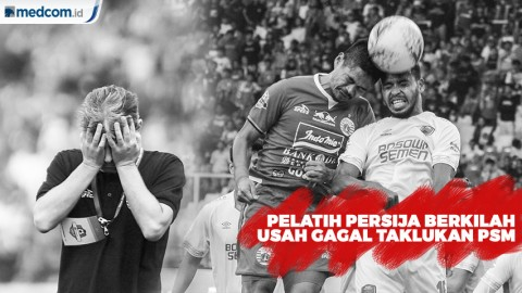 Pelatih Persija Berkilah Usai Gagal Taklukan PSM