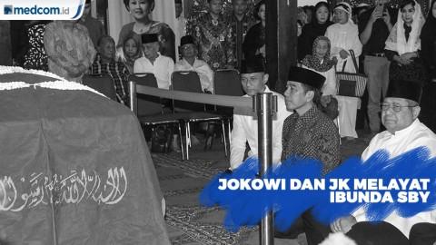 Jokowi dan JK Melayat Ibunda SBY