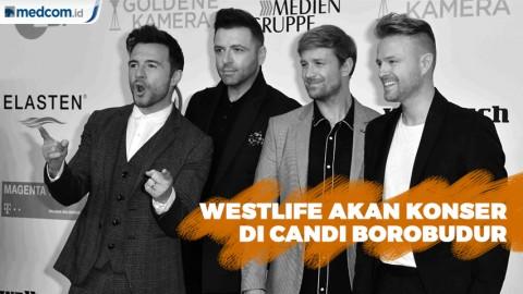Westlife Lanjutkan Konser Twenty Tour di Candi Borobudur