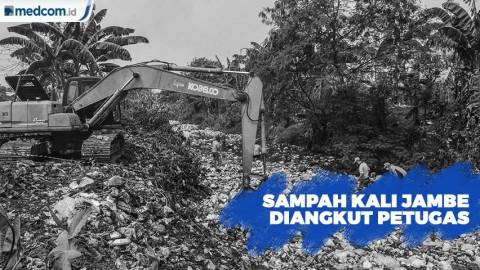 Sampah Kali Jambe Bekasi, Diangkut Petugas