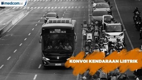 Ramai-ramai Konvoi Kendaraan LIstrik Jakarta - Tangsel