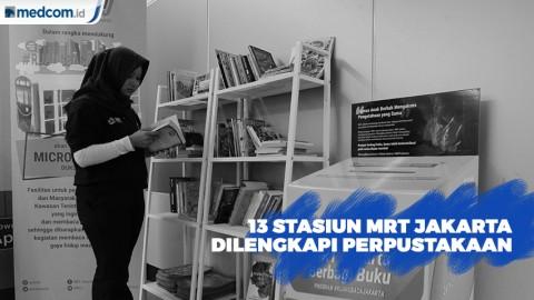 PT MRT Jakarta Sediakan Perpustakaan di 13 Stasiun