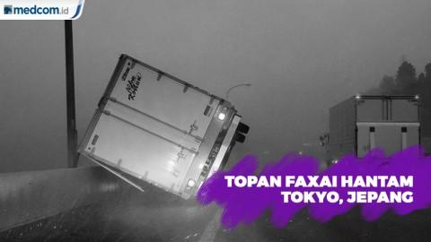 Topan Faxai Hantam Tokyo, Aliran Listrik dan Transportasi Terganggu