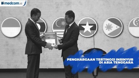 Joko Widodo Terima Penghargaan Tertinggi Insinyur di Asia Tenggara