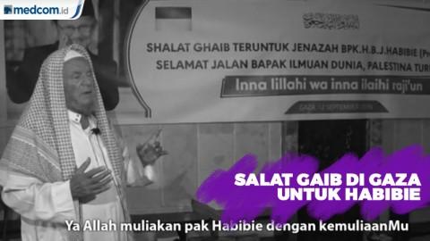 Salat Gaib di Gaza untuk Bj Habibie