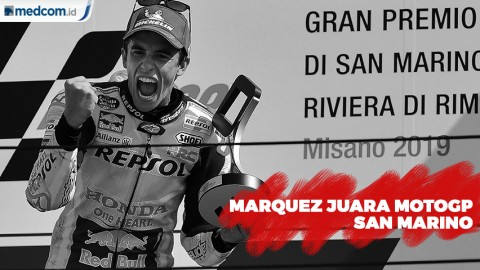 Marc Maquez Sabet Juara MotoGP San Marino