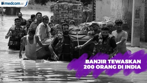 Banjir Tewaskan 200 Orang di India