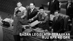 Badan Legislatif Serahkan RUU KPK ke DPR