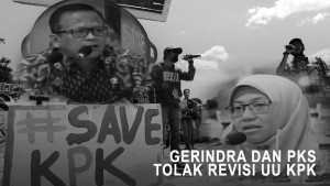Gerindra dan PKS Tolak Revisi UU KPK