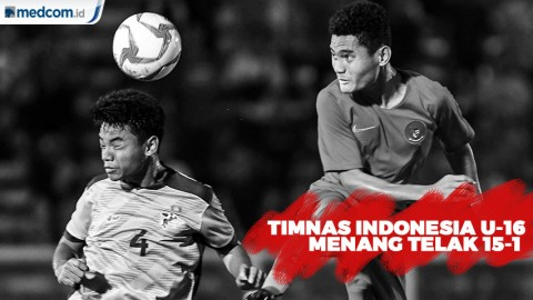 Timnas Indonesia U-16 Menang Telak 15-1 atas Mariana Utara
