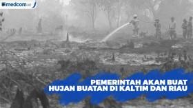 Pemerintah Akan Buat Hujan buatan di Kaltim dan Riau