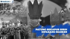 Patung Sekapur Sirih Jambi Dipasang Masker