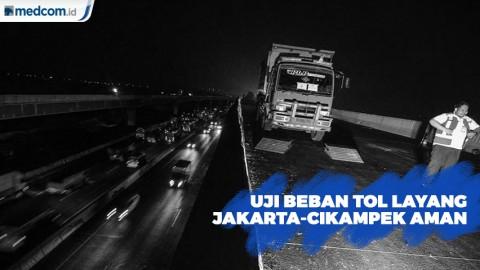 Hasil Uji Beban Tol Layang Jakarta-Cikampek Elevated II Aman