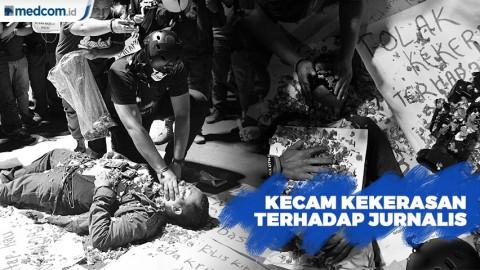 Aksi Solidaritas, Wartawan Kecam Kekerasan Terhadap Jurnalis