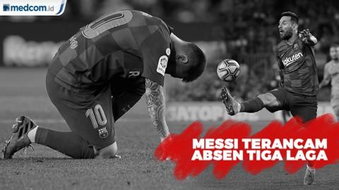 Messi Terancam Absen Tiga Laga Karena Cedera