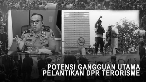 Highlight Primetime News - Potensi Gangguan Utama Pelantikan DPR Terorisme