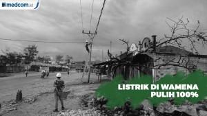 Jaringan Listrik di Wamena Telah Pulih 100 Persen