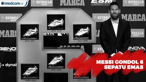 Sepatu Emas Keenam untuk Messi