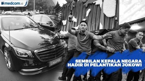 Sejumlah Kepala Negara Hadir di Pelantikan Jokowi