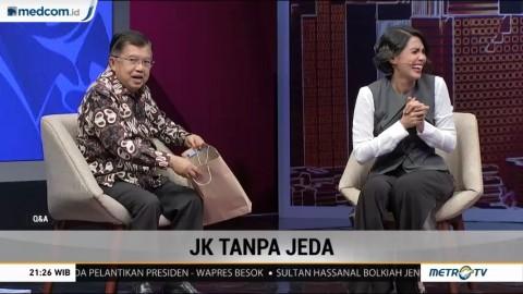 Reaksi Lucu Jusuf Kalla saat Terima Hadiah dari Metro TV
