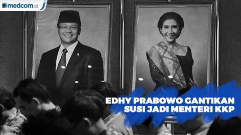 Serah Terima Jabatan dengan Edhy Prabowo, Susi Teteskan Air Mata