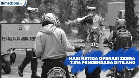 7 Ribu Kendaraan Ditilang di Hari Ketiga Operasi Zebra Jaya 2019