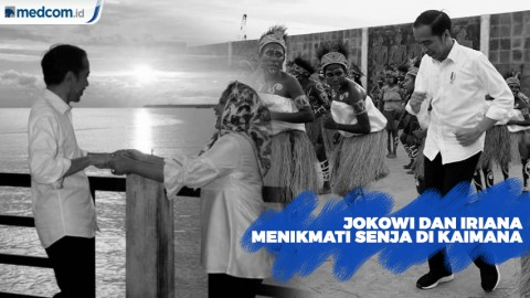 Jokowi dan Iriana, Menikmati Senja di Kaimana