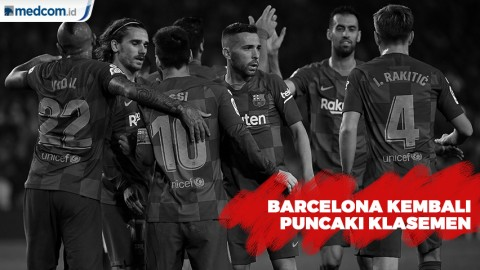 Taklukan Valladolid 5-1, Barcelona Kembali Duduki Puncak Klasemen