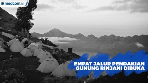 Empat Jalur Pendakian Gunung Rinjani Dibuka