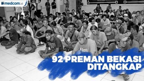 92 Preman dari Seluruh Wilayah Kota Bekasi Ditangkap